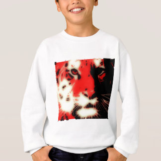 Red Tiger Face Sweatshirt