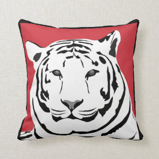 Red Tiger Throw Cushion