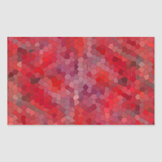 Red Tile Mosaic Sticker