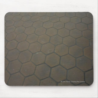 Red tiled floor mouse pad