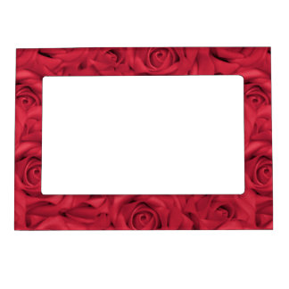 Red Tiled Roses Magnetic Frame