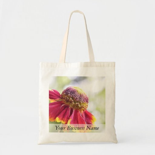 Red Tinged Helenium Flower Canvas Bags