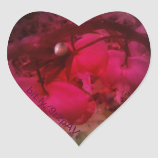 red tinted red bleeding hearts heart sticker