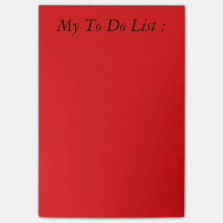 Red To Do List Post-it Post-it Notes
