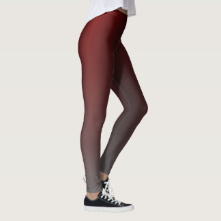 Red to Grey Gradient Leggings