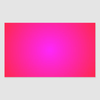 Red to Magenta Gradient Rectangular Sticker