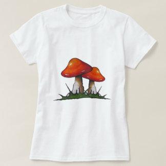 Red Toadstools, Mushrooms: Freehand Marker Art T-Shirt