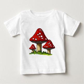Red Toadtstools, Mushroom: Freehand Art Baby T-Shirt
