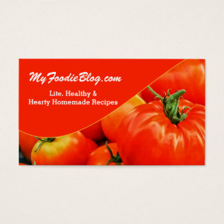 Red Tomato Foodie Lover's Two Sided Business Card