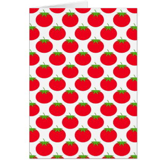 Red Tomato Pattern. Card