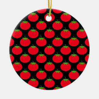 Red Tomato Pattern. Christmas Ornament