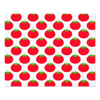 Red Tomato Pattern. Flyer