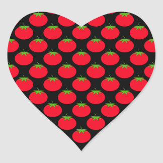 Red Tomato Pattern. Heart Sticker