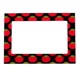 Red Tomato Pattern. Magnetic Picture Frame