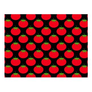 Red Tomato Pattern. Postcard