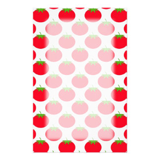 Red Tomato Pattern. Stationery