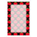 Red Tomato Pattern. Stationery Design