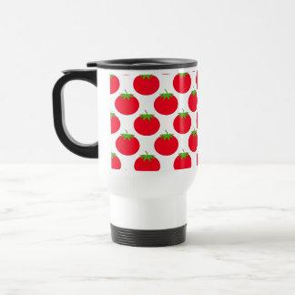 Red Tomato Pattern. Travel Mug