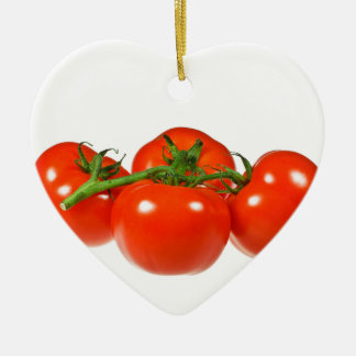 Red tomatoes ceramic heart decoration