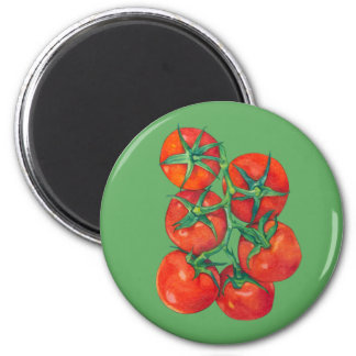 Red Tomatoes green Magnet