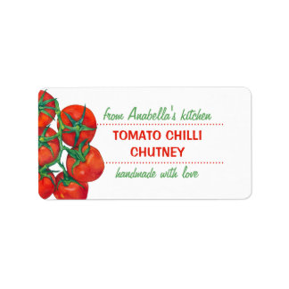 Red Tomatoes Kitchen Preserves Label