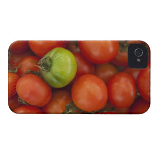 red tomatoes with one green one for sale at the iPhone 4 covers