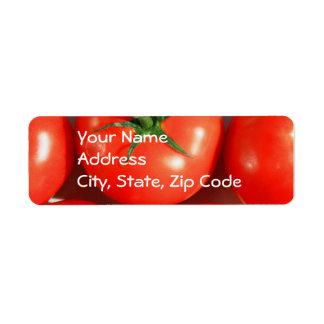 Red Tomatos Address labels