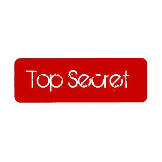 Red Top Secret Label