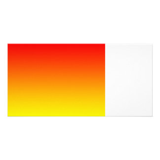red top yellow bottom gradient DIY custom image Photo Card