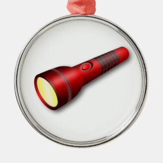 Red Torch Flashlight Christmas Ornament