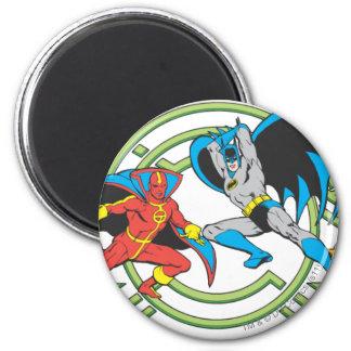 Red Tornado + Batman Magnet