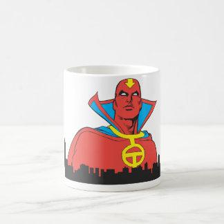 Red Tornado Behind Cityscape Coffee Mug