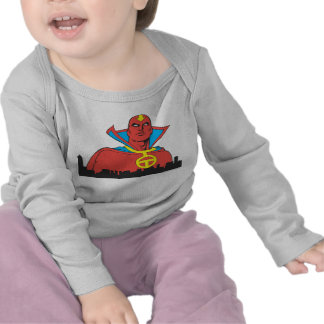 Red Tornado Behind Cityscape Shirts