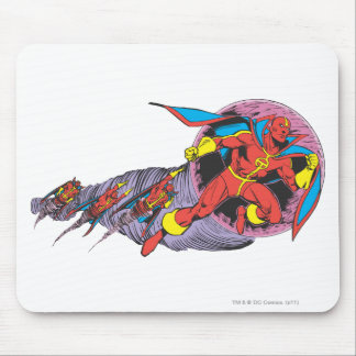 Red Tornado In Wind Motion Mouse Mat