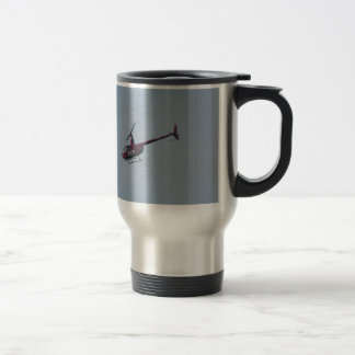 Red tourist helicopter. travel mug