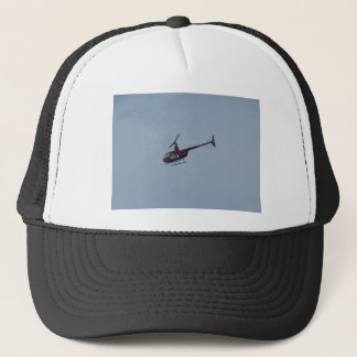 Red tourist helicopter. trucker hat