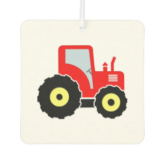 Red toy tractor