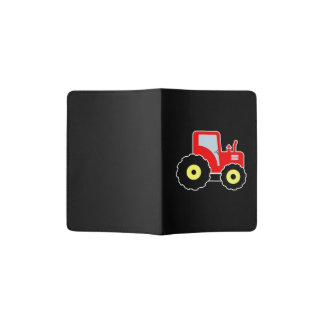 Red toy tractor passport holder