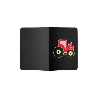 Red toy tractor passport holder