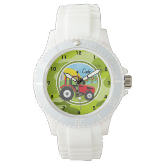Red Tractor; bright green camo, camouflage Watch