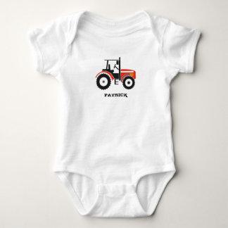Red Tractor Design Apparel Baby Bodysuit