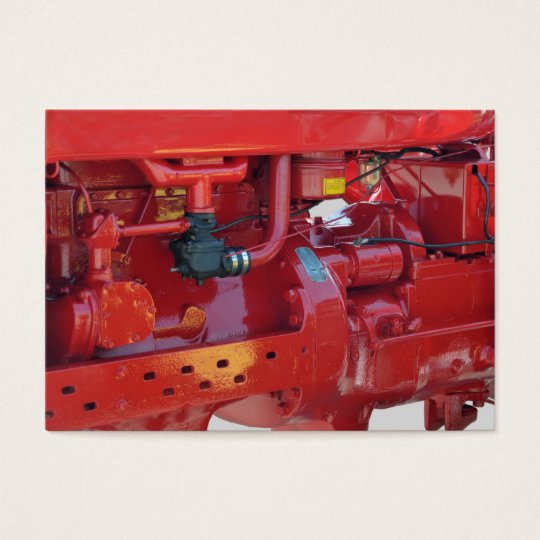 Red Tractor Engine Business Card