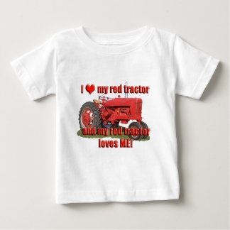 red_tractor_love baby T-Shirt