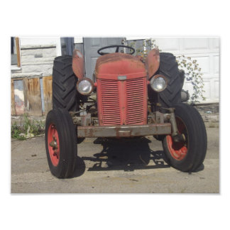 Red Tractor Photograph