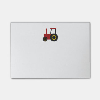Red Tractor Post-it Notes