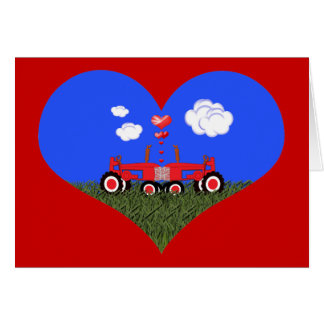 Red Tractor Valentine s Day Cards
