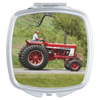 Red Tractor Vanity Mirror