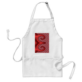 Red Traditional Floral design Aprons