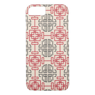 Red Traditional Geometric Chinese Decorative Patte iPhone 7 Case