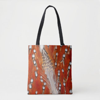 Red Tragopan Feathers Tote Bag